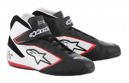 Ботинки для автоспорта TECH-1 T, FIA, чёрный/белый/красный, 42 Alpinestars 2710019_123_9