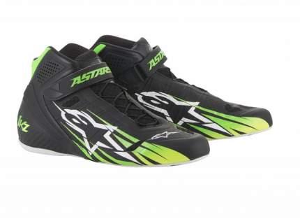 Ботинки для картинга TECH 1-KZ, чёрный/зелёный/жёлтый, 38 (6) Alpinestars 2713018_1156_6
