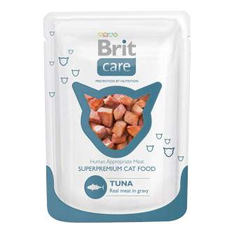 Влажный корм для кошек Brit Care Tuna, с тунцом, 80г