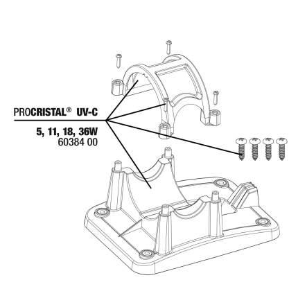 Комплект кронштейнов JBL Mounting Kit для УФ-стерилизаторов ProCristal UV-C 5/11/18/36 Вт