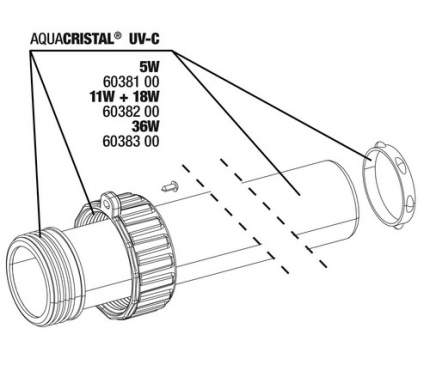 Комплект для замены кварцевого стекла JBL Quartz glass kit для ProCristal UV-C 11/18Вт