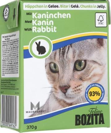 Консервы для кошек BOZITA Feline Chunks In Jelly, с кроликом в желе, 370г