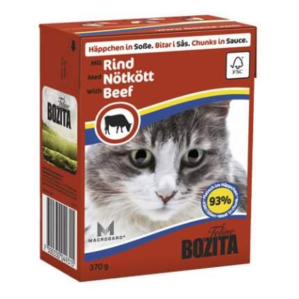 Консервы для кошек BOZITA Feline Chunks In Sauce, с говядиной в соусе, 370г