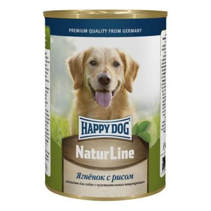 Консервы для собак Happy Dog NaturLine, с ягненком и рисом, 400г