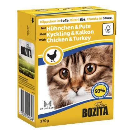 Консервы для кошек BOZITA Feline Chunks In Sauce, с индейкой и курицей в соусе, 370г
