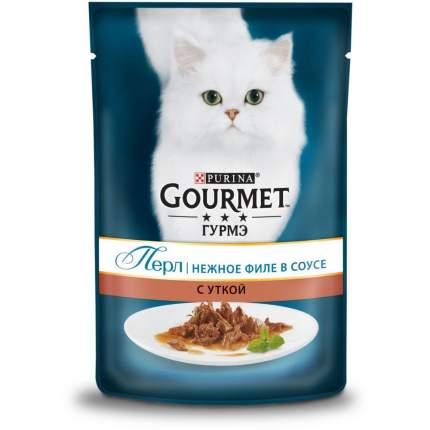 Влажный корм для кошек Gourmet Perle, нежное филе в соусе с уткой, 85г