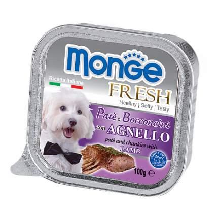 Консервы для собак Monge Fresh, ягненок, 100г