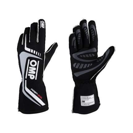 Перчатки для автоспорта FIRST EVO my2020, FIA 8856-2018, чёрный, M OMP Racing IB/767/N/M