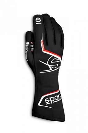 Перчатки для автоспорта ARROW, FIA 8856-2018, чёрный/красный, р-р 10 Sparco 00131410NRRS
