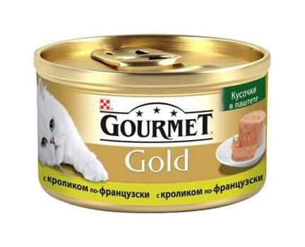 Консервы для кошек Gourmet Gold Террин, кусочки в паштете с кроликом по-французски, 85г