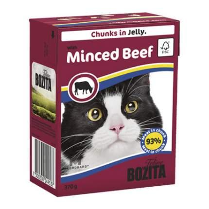 Консервы для кошек BOZITA Feline Chunks In Jelly, с рубленой говядиной в желе, 370г