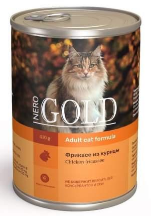 Консервы для кошек NERO GOLD Adult, с фрикасе из курицы, 810г