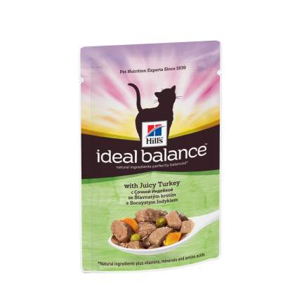 Влажный корм для кошек Hill's Ideal Balance, индейка, 85г
