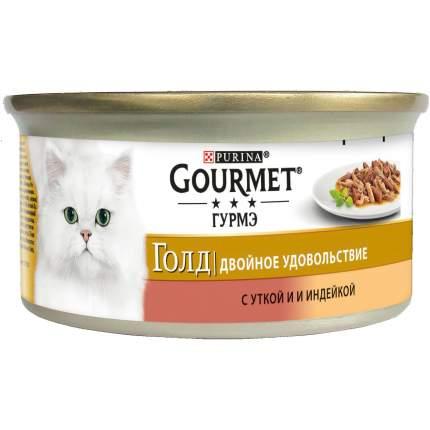 Консервы для кошек Gourmet Gold, утка, индейка, 85г