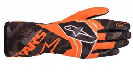 Перчатки для картинга TECH 1 K RACE v2 CAMO оранжевый/чёрный, M Alpinestars 3552220_451_M
