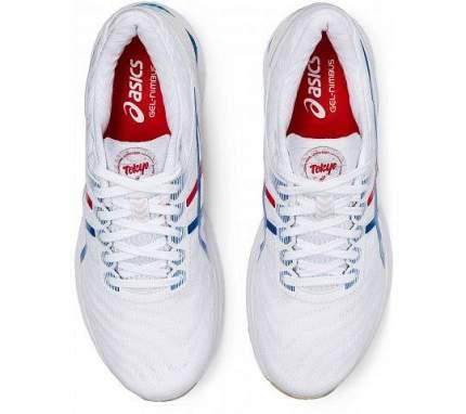 Кроссовки Asics Gel-Nimbus 22, white/electric blue, 42 RU