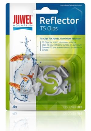 Клипсы для отражателей для аквариумов JUWEL Plastic Reflector Clips T5, пластиковые, 4 шт
