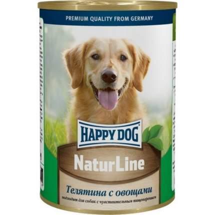 Консервы для собак Happy Dog NaturLine, телятина, овощи, 400г