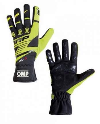 Перчатки для картинга детские KS-3 my2018,чёрный/флюор. жёлтый,5 OMP Racing KK02743E059005