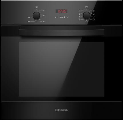 Встраиваемый электрический духовой шкаф Hansa BOES68402 Black