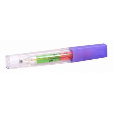Клинса Термометр ртутный с цветной шкалой и защитным покрытием в пластиковом футляре