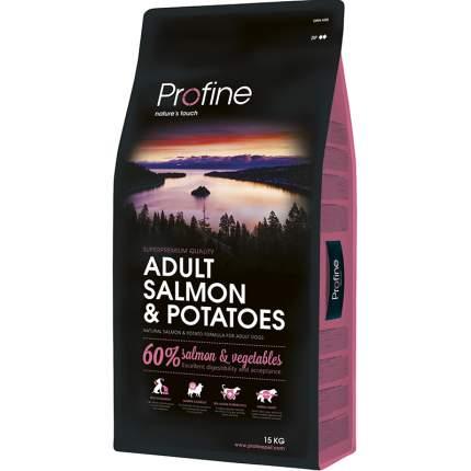 Сухой корм для собак Profine Adult Salmon and Potatoes, лосось, картофель, 15кг
