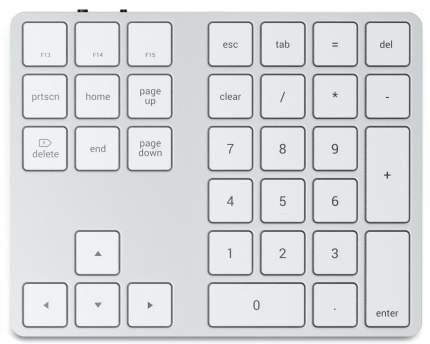 Беспроводная клавиатура Satechi Extended Keypad Silver (ST-XLABKS)
