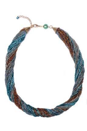 Бисерное ожерелье 36 нитей янтарно-зеленое