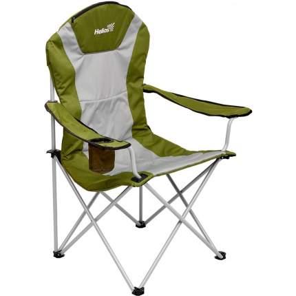 Кресло складное серый ромб/зеленый (Т-HS-750-99806H-05) Helios (пр-во ГК Тонар)