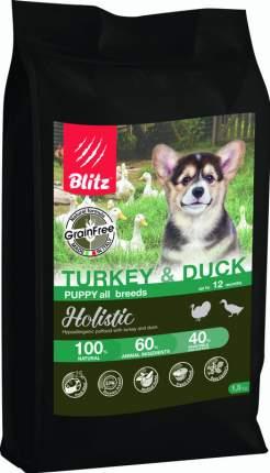 Сухой корм для щенков BLITZ PUPPY TURKEY & DUCK индейка и утка, 1,5 кг