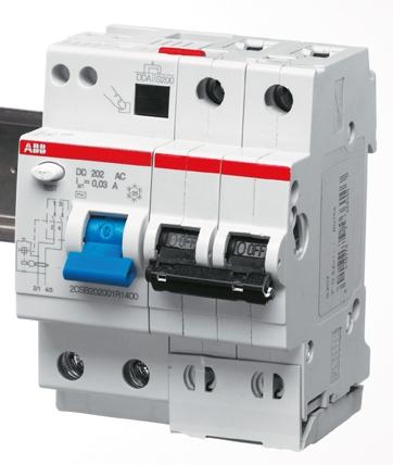 Дифференциальный автоматический выключатель ABB DS202  4мод. 10А 30mA 6kA(АС)