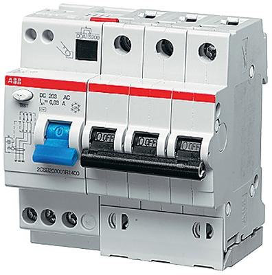 Дифференциальный автоматический выключатель ABB DS203  5мод. 32А 30mA (АС)