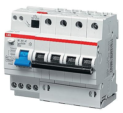 Дифференциальный автоматический выключатель ABB DS204  4P 16А 30mA 6kA(A) хар. С
