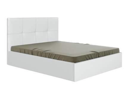 Двуспальная кровать Первый Мебельный Верда Белый, экокожа, 180х200