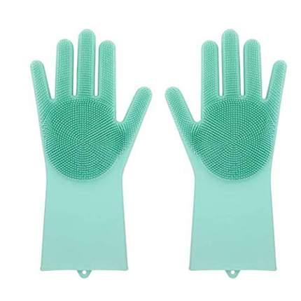 Многофункциональные перчатки силиконовые Magic Brush зеленые