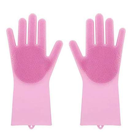 Многофункциональные перчатки Magic Brush розовые