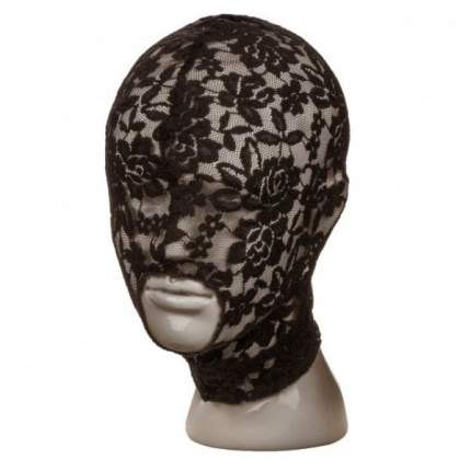 Черный кружевной шлем-маска California Exotic Novelties Lace Hood
