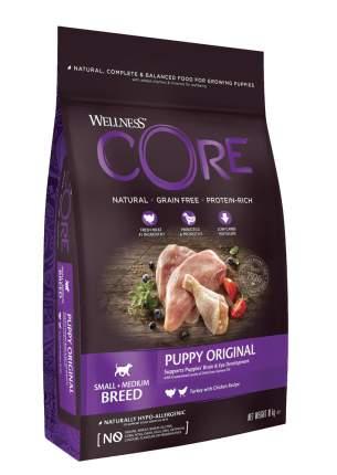 Сухой корм Wellness CORE Индейка с курицей для щенков мелких и средних пород 10 кг