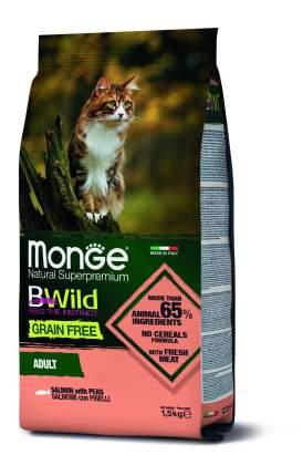 Сухой корм для кошек Monge Bwild Cat Grain Free, из лосося и гороха беззерновой, 1.5кг