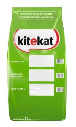 Сухой корм для кошек Kitekat, улов рыбака, 15кг