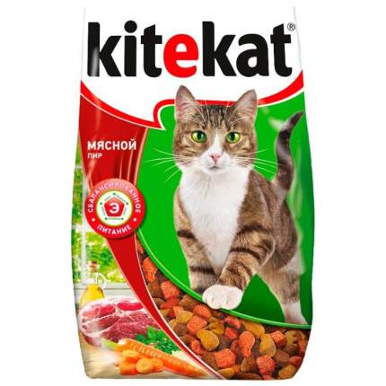 Сухой корм для кошек Kitekat, мясной пир, 1,9кг