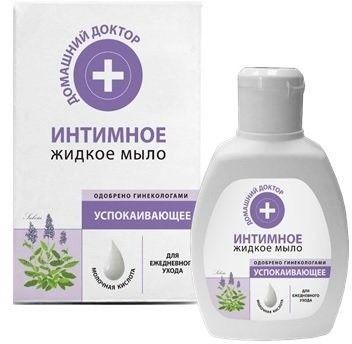 Жидкое мыло Интимное Домашний Доктор Успокаивающее Шалфей, 200 мл