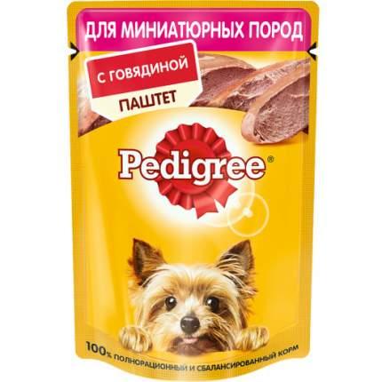 Влажный корм для собак Pedigree, говядина, 80г