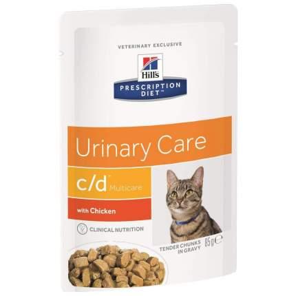 Влажный корм для кошек Hill's Prescription Diet c/d Urinary Care, курица, 85г