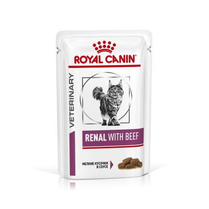 Влажный корм для кошек ROYAL CANIN Vet Diet Renal, говядина, 85г
