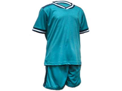 Форма футбольная. Цвет: бирюзовый. Размер 46. Б-46#