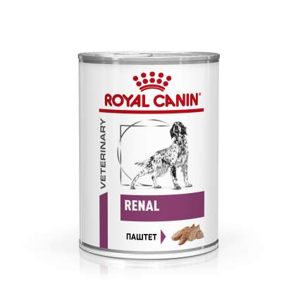 Консервы для собак ROYAL CANIN Renal, свинина, 410г