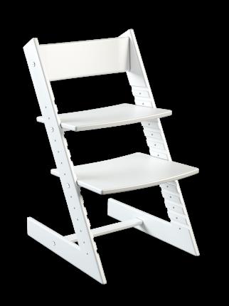 Детский растущий стул из бука Премиум Конёк Горбунёк, цвет Белый бук