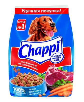 Сухой корм для собак Chappi Сытный мясной обед, Говядина по-домашнему, 600г