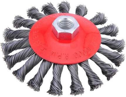 Кордщетка SKRAB тарелка 125мм для УШМ витая сталь (35432)